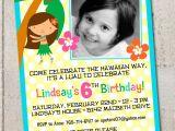 Hula Birthday Party Invitations Hula Girl Birthday Party Invitation Diy by thelovelyapple