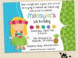 Hula Birthday Party Invitations Hula Luau Blonde Girl Digital Invitation Luau by Inktuitive
