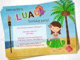 Hula Birthday Party Invitations Luau Hula Hawaiian Birthday Party Invite Diy Printable