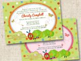 Hungry Caterpillar Baby Shower Invitations A Hungry Caterpillar Inspired Custom Baby Shower Invitation or