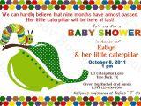 Hungry Caterpillar Baby Shower Invitations Baby Shower Invitations Hungry Caterpillar