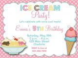 Ice Cream Party Invitation Template Free Ice Cream Party Birthday Invitation Ice Cream by