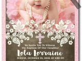 Ideas for Baptism Invitations Vintage Victorian Pink Peach Baptism Invitations [di 824