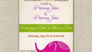 Indian Birthday Party Invitations Bollywood themed Birthday Party Invitations Girls Indian