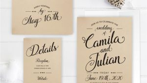 Inexpensive Wedding Invitation Packages Cheap Wedding Invitation Packages Kraft Wedding Invitation