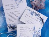 Inexpensive Wedding Invites Cheap Blue Blossom Floral Wedding Invitations Ewi165 as