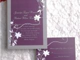 Inexpensive Wedding Invites Cheap Rustic Floral Plum Wedding Invitations Ewi001 as Low