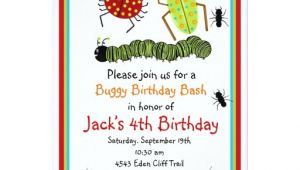 Insect Birthday Party Invitations Bugs Birthday Invitations Zazzle