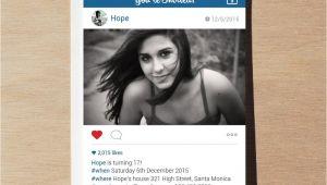 Instagram Party Invitation Template Instagram Birthday Invitation Printable Invites by Framesta