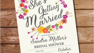 Instant Download Bridal Shower Invitations Bridal Shower Invitation Floral Bridal Shower Instant