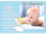 Invitation Card for Baptism Of Baby Boy Template Free Christening Invitation Template