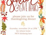 Invitation Card for Thanksgiving Party Customizable Thanksgiving Invitation Free Printable