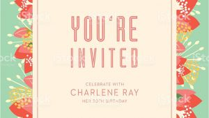 Invitation Card Text Birthday Birthday Invitation Card with Text and Floral Background