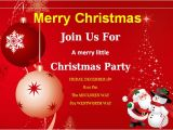 Invitation Cards for Party with Words Christmas Invitation Card Template Best Template Examples