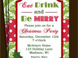 Invitation for A Christmas Party Christmas Party Invitation Printable or Printed with Free