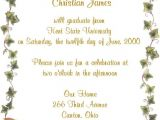 Invitation for A Graduation Party Graduation Party Invite Wording – Gangcraft
