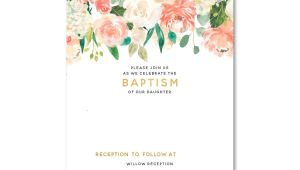 Invitation for Baptism Template Free Free Template Free Floral Baptism Invitation Template