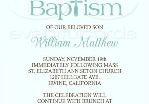 Invitation for Baptism Words Baby Boy Baptism Invitation