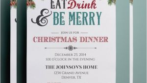 Invitation for Christmas Dinner Party 30 Christmas Invitation Templates Free Sample Example