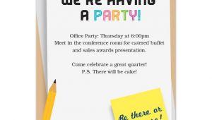 Invitation for Dinner Party at Office Fice Party Invitation Sansalvaje