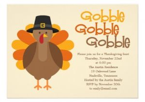 Invitation for Thanksgiving Party Gobble Gobble Thanksgiving Party Invitation Announcements