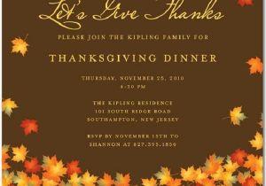 Invitation for Thanksgiving Party Thanksgiving Invitations 365greetings Com