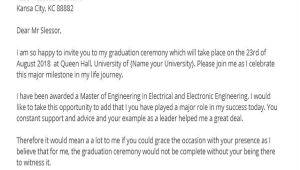 Invitation Letter for Graduation Party 36 Invitation Letters Sample Templates