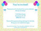 Invitation Letter to A Birthday Party Sample Birthday Invitation Templates