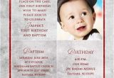Invitation Message for Birthday and Baptism First Birthday Invitation Wordings for Baby Boy Yourweek