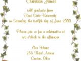 Invitation to Graduation Party Wording Tips Easy to Create Graduation Party Invitation Wording