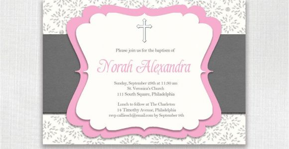 Invitation Wording for Baptism and Birthday Birthday Invitations 1st Birthday Baptism Invitations