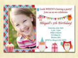 Invitations for 2 Year Old Party Owl Birthday Party Girl Invitation 1 2 3 4 5 Any