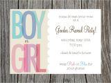 Invitations for Gender Reveal Party Gender Reveal Party Invitation Printable by Printyourheartout