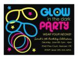 Invitations for Glow In the Dark Party Personalized Neon Invitations Custominvitations4u Com