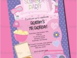 Invitations for Sleepover Party Templates Sleepover Birthday Invitations Template Resume Builder