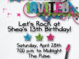 Invitations for Teenage Girl Birthday Party Teen Party Invitations