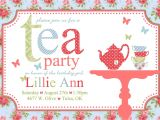 Invitations to Tea Party Samples Free afternoon Tea Invitation Template
