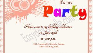 Inviting for Birthday Party Words Birthday Invitation Wording Easyday