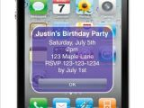 iPhone Party Invitation Template iPhone Alert Birthday Party Invitation Personalized Party