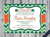 Irish Baby Shower Invitations Printable Irish Shamrock Invitation Shamrock Birthday