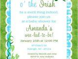 Irish Baby Shower Invitations Shamrock Irish Baby Shower Invitation Luck O the Irish