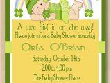 Irish Baby Shower Invitations St Patrick Baby Girl Shower Invitation Irish by