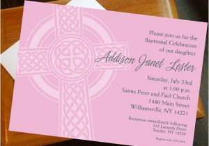 Irish Baptism Invitations Baptism First Munion Invitation Irish Cross Customized