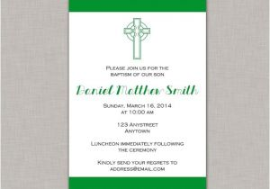 Irish Baptism Invitations Irish Baptism Celtic St Patrick S Day Dedication