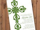 Irish Baptism Invitations Irish Baptism Invitation Boys Christening by