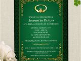 Irish Bridal Shower Invitations Claddagh Ring Celtic Knots Irish Bridal Wedding Shower