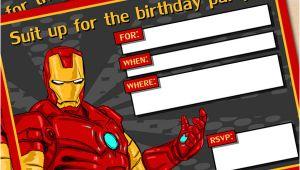 Iron Man Birthday Invitation Template Free Printable Avengers Iron Man Birthday Invitation