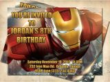 Iron Man Party Invites Etsy Your Place to Buy and Sell All Things Handmade