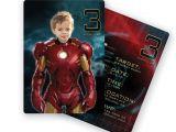 Iron Man Party Invites Iron Man Birthday Party Personalized Custom Invitation with