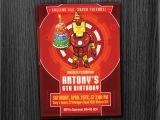Iron Man Party Invites Ironman Invitation Birthday Printable Download
